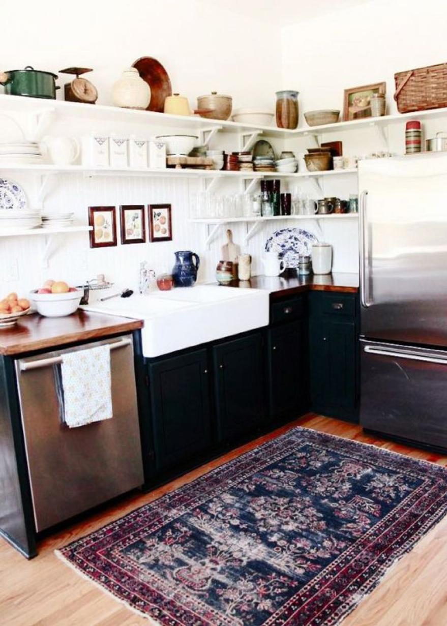 un vrai tapis dans sa cuisine / Crédit : Marie-Claire Maison